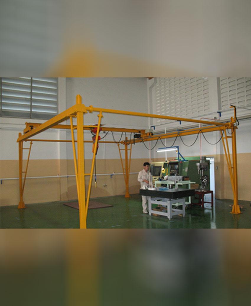 เครนเหนือศีรษะชนิดรางเดี่ยว (โอเวอร์เฮดเครนรางเดี่ยว) ขนาด 150 กิโลกรัม กว้าง 5.4 เมตร