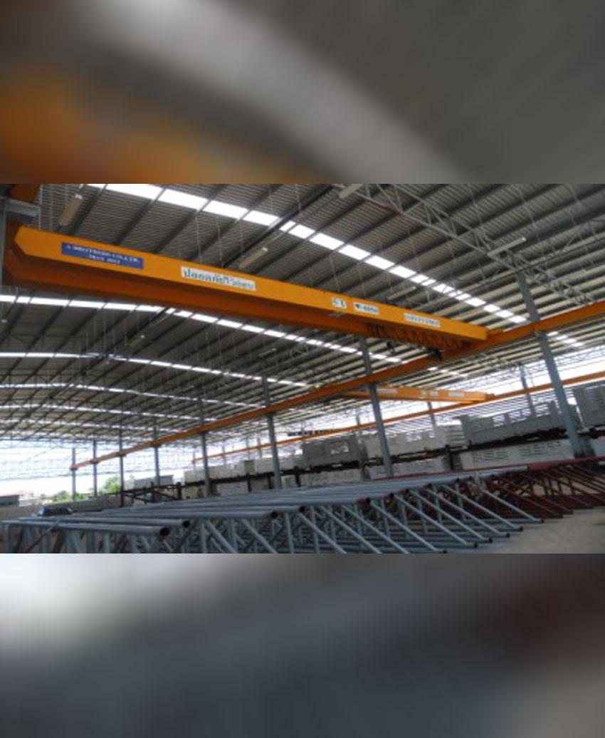 Double girder overhead crane 5 T, span 19 M