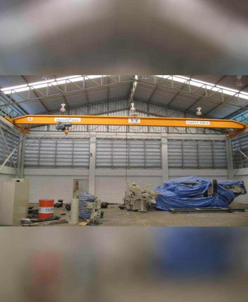 เครนเหนือศีรษะชนิดรางเดี่ยว (โอเวอร์เฮดเครนรางเดี่ยว) ขนาด 3 ตัน กว้าง 14 เมตร